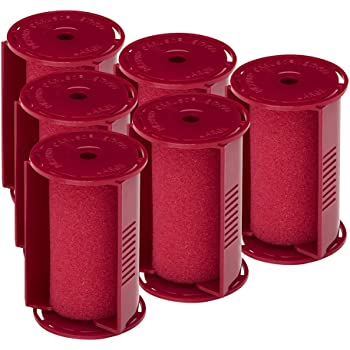 """Caruso Professional Large Molecular Replacement Steam Hair Rollers with Shields, 6-Pack, 1-1/2"""" Inches"""