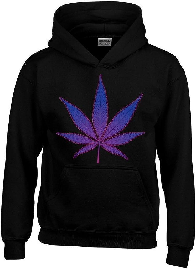 ARTIX Purple Pot Leaf Hoodies Weed Smoker Sweatshirts