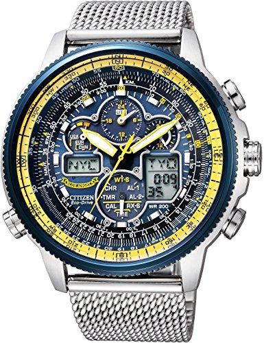 [シチズン]CITIZEN 腕時計 PROMASTER プロマスター エコ・ドライブ 電波時計 スカイシリーズ 限定 ブルーエンジェルスモデル JY8031-56L メンズ