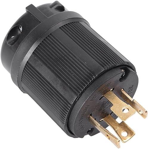 2021 Mallofusa 30 Amp, 125-250 outlet sale Volt, NEMA L14-30P, 4P, 4, Twist-Lock Locking Plug, Industrial Power Plug, discount US outlet sale