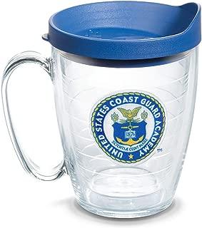 Tervis 1086314 USCGA Bears Logo Tumbler with Emblem and Blue Lid 16oz Mug, Clear
