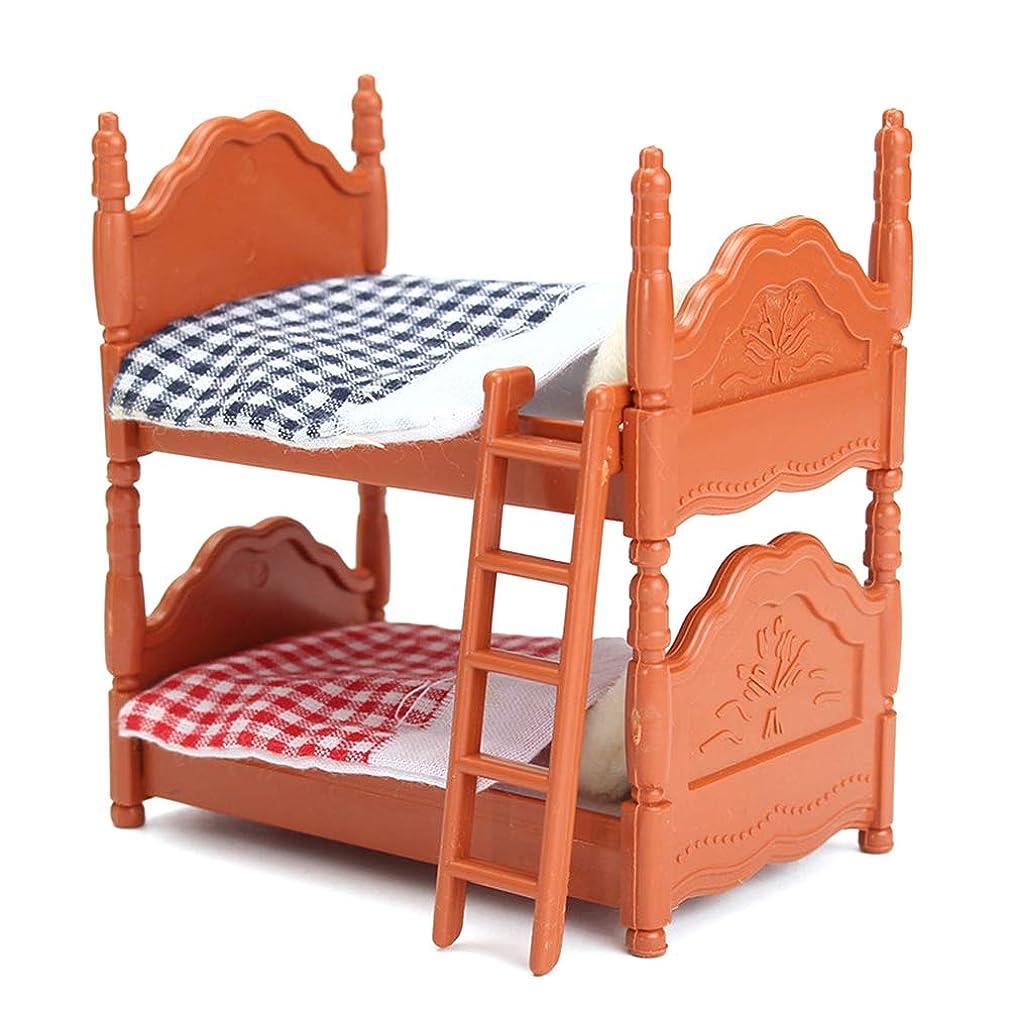多様なツイン引数Sefod 家具 おもちゃ ドール用二段ベッド おままごと 小道具 知育玩具 ミニ ごっこ遊び 庭の装飾 おもちゃ プレイセット 誕生日 入園 ギフト お祝い 贈り物 幼児 女の子 子供用 一緒に遊ぼう