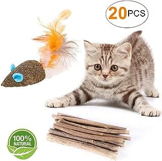 Cat Catnip Sticks Natural Matatabi Silvervine Sticks - Cleaning Teeth Molar Tools Kitten Cat Chew Toy Natural Catnip Mouse Cat Toy