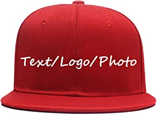 Men Women Hip Hop Plain Snapback Hats Personalized Flat Brim Outdoors Sun Visors Add Picture/Text/Logo Custom Baseball Caps