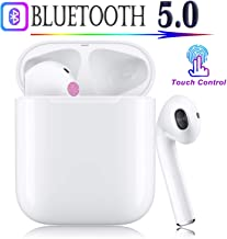 Bluetooth Headphones Wireless Earbuds Stereo Bass Wireless Headphones,Support Fast Charging【24 Hrs Charging Case】 Pop-ups Auto Pairing,IPX5,Resistant for iPhone Apple Airpods Samsung Android