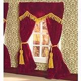 Dolls House 5777 Rote Samtvorhänge 182 x 137mm 1:12 für Puppenhaus