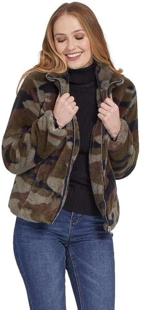 Tribal Women's Faux Fur Coat-Hunter