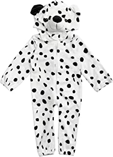 HollyHOME Baby Romper Dalmatians Puppy Cosplay Costume Cuddly Dog Toddler Cosplay Pajamas One Piece Jumpsuit Animal Cosplay Outfits Sleeping Wear for 0-6M