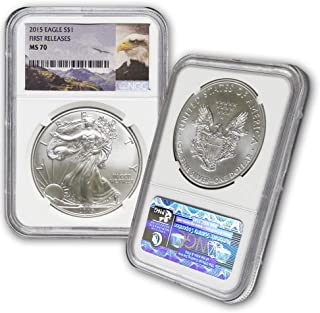 2015 American Silver Eagle $1 MS70 NGC First Releases-Eagle Label