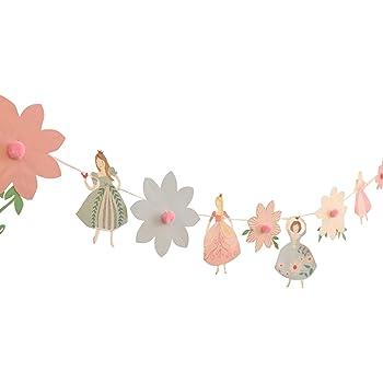 Lumierechat ガーランド バレリーナ 飾り 装飾 女の子 お誕生日 パーティー 子供部屋 飾りつけ ピンク 3m a-3176