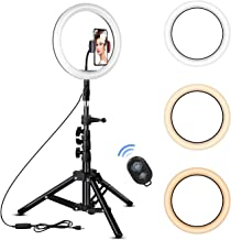 Rovtop 10 inch Ring Light with Stand Tripod, LED, Phone...