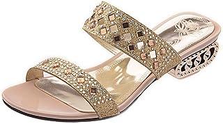 BeiaMina Women Fashion Low Heel Mules Sandals