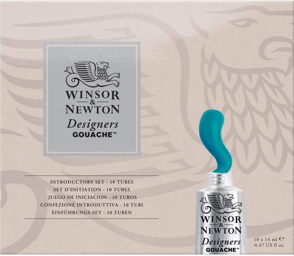 Winsor & Newton diseño, para Principiantes, 10 Tubos de 14 ml, Einführungsset, Set:10x14ml Tube - Gouachen - Gouache, 140