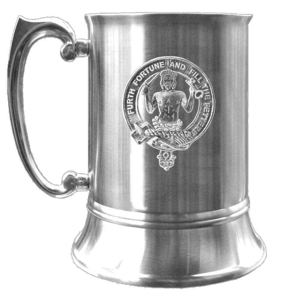 Murray Clearance SALE Limited time Savage Scottish Clan Crest Pewter Tankard Badge Price reduction