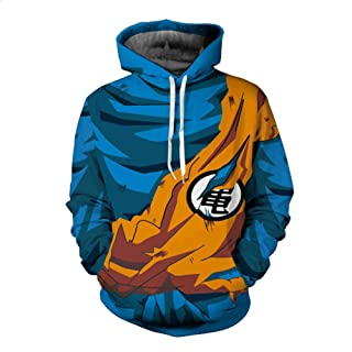 HOOSHIRTA Men 3D Hoodies Dragon Ball Naruto Pocket Hooded Sweatshirts Hot 3D Animation Pullovers Tracksuits Teen