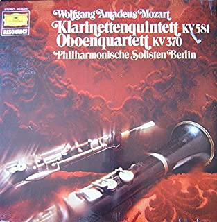 Wolfgang Mozart Berlin Philharmonic Soloists Quintet in a Major for Clarinet