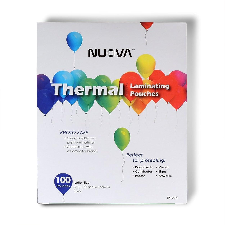 地下室反動険しいNuova Premium Thermal Laminating Pouches 9 x 11.5, Letter Size, 3 mil , (LP100H) by NUOVA