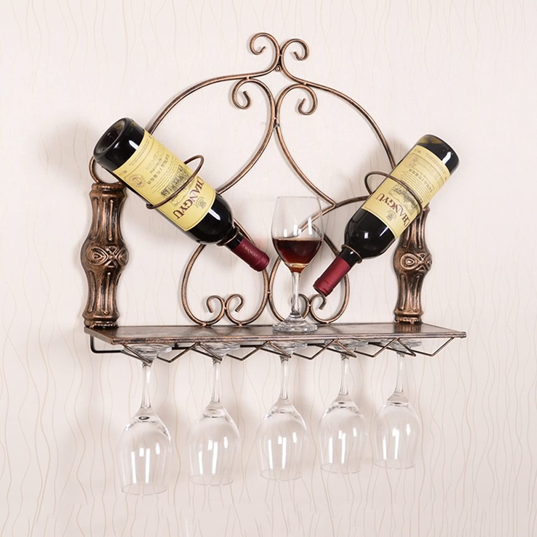 Descuento del 70% barato Wine Wine Wine rack Botelleros - Enfriador de Vino Europeo montado en la Parojo Salón de la Sala de Estar de la Barra de Vino Creativo casero 56x12.5x48cm Felice Home (Color   Bronce)  El nuevo outlet de marcas online.