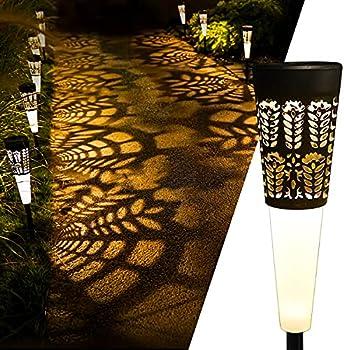 4-Pack Eho Solar Outdoor Garden Decorative Waterproof Pathway Lights
