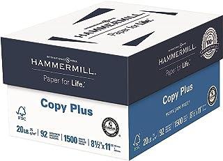 Hammermill Copy Plus 8.5-Inch x 11-Inch Copy Paper, 20 lbs, 92 Bright, 500 Shts/RM, 3RM/CT (105040)