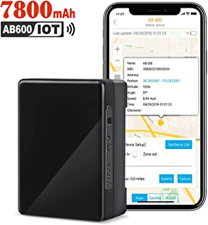 ABLEGRID GPS Tracker, 60-Days 7800mAh IoT Real-time GPS Tracking Device NB-IoT Cat-M 4G Small Hidden GPS Locator for Vehicle, Car, Personal, Valuable - with Global SIM Card