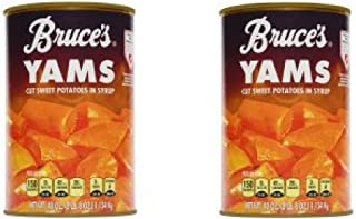 Bruce's Yams Cut Sweet Potatoes in Syrup, 40 oz - Pack of 2