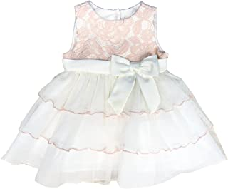 Baby Girls 12-24 Months Lace Bodice Tiered Dress Peach 3-6 Months