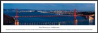 San Francisco - Golden Gate Bridge with Moonlight - Blakeway Panoramas Print with Standard Frame