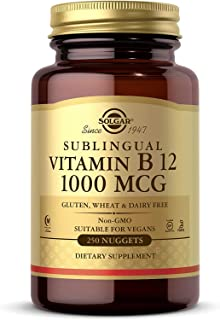 Solgar Vitamin B12 1000 mcg, 250 Nuggets - Supports Production of Energy, Red Blood Cells - Healthy Nervous System - Promo...