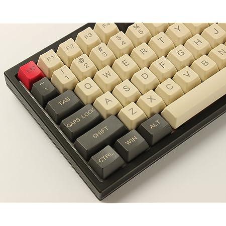 YMDK 96 84 ANSI ISO Keyset OEM Profile Thick PBT Keycap Set for Cherry MX Mechanical Keyboard YMD96 RS96 KBD75 YMD75 FC980M (Gray Beige)(Only Keycap)