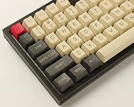 YMDK 96 84 ANSI ISO Keyset OEM Profile Thick PBT Keycap Set for Cherry MX Mechanical Keyboard YMD96 RS96 KBD75 YMD75 FC980M (Gray Beige)