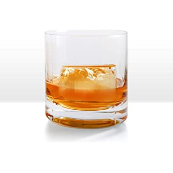 Ambrosia Collection Zeus Whiskey Glasses - Premium 10 oz Large Scotch Old Fashioned Glasses fits Large Ice Cubes up to 2.25 inches - Set of 2