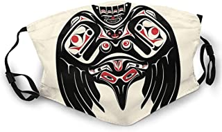 Crow In A Pacific North West Style, Native American Style Adult Dust Face Sun-Proof Bandana Headwear