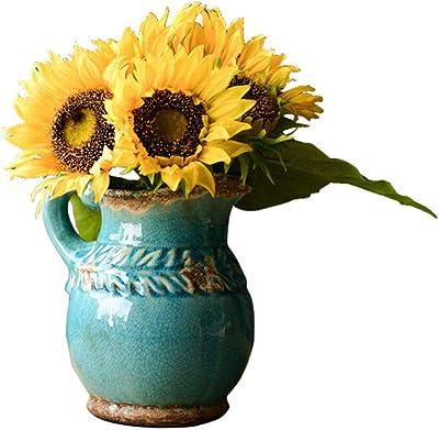 Amazon.com: Cunmaa-a Jarrón de cerámica de resina para ...