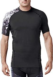 HUGE SPORTS Men's Short Sleeve Baselayer Skins Compression Shirt Rash Guard Running Swimming Sports Workout Fitness Cool D...