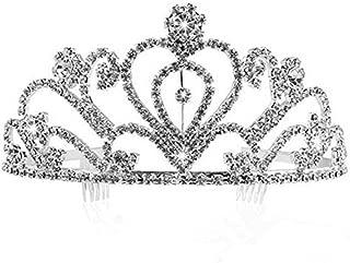 iHOMIKI Kreative Braut K/ämme Hochzeit Strass Legierung Haar-Zus/ätze Schmuck Doppelkopfbedeckung Pin Kopfbedeckungen Haarschmuck 1pc