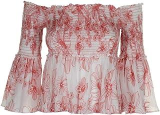 f1b667469b6 Max Studio London Women s Smocked Cotton Off-The-Shoulder Top
