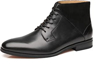 Mens Winter Chukka Suede Ankle Dress Boots Leather Lace up Oxford Classic Comfortable Boots