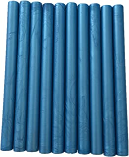 XICHEN10PCS Vintage Sealing Glue Gun Sealing Wax Wax Sticks Wax Seal Supplies a Variety of Colors (Azure)