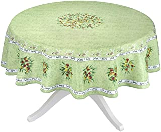 Provence Olivier Green French Provencal Tablecloth - 70