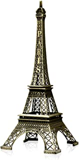 Kalevel Eiffel Tower Decor Centerpiece Metal Paris Eiffel Tower Statue Model Vintage Home Office Decorations Eiffel Tower Cake Topper Christmas Party Table Desk Decor Mothers Day Birthday Gifts