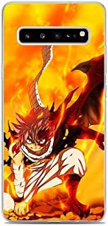 X-Art Clear Case for Samsung Galaxy S10 5G, Fairy-Tail Fire-Logo Manga-Dragon 2 Transparent Fundas Slim Liquid Case Cover