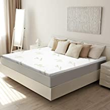 LANGRIA 3-Inch King Mattress Topper CertiPUR-US Certified Memory Foam with Removable Zippered Hypoallergenic Bamboo Cover and Non Slip Bottom