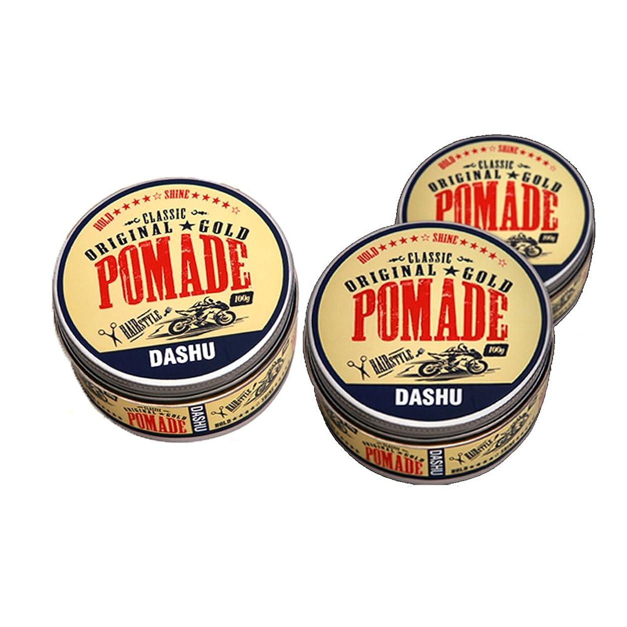 無謀比喩凝縮する(3個セット) x [DASHU] ダシュ クラシックオリジナルゴールドポマードヘアワックス Classic Original Gold Pomade Hair Wax 100ml / 韓国製 . 韓国直送品