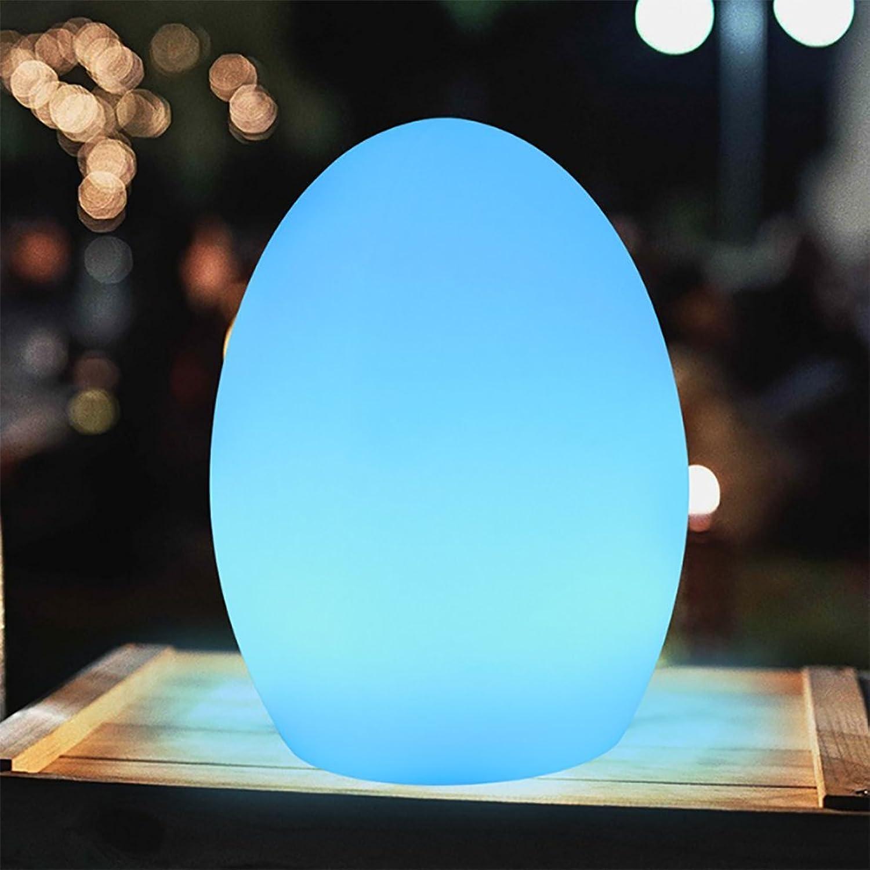 ZLMI LED-Nachtlicht, Sieben Farbkreatives Modeszenen-Ei-Licht-Staub Wasserdichtes USB, Das Kerzen-Licht-Szenen-Ei-Licht Aufldt,C14CM