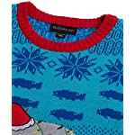 Blizzard Bay Men's Ugly Christmas Sweater Sea Creatures 12 Novelty holiday sweater Great with denim