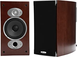 Polk Audio RTIA1 High Performance Bookshelf Speakers in Cherry | Dynamic Balance & Power Port Plus (Pair) (RTIA1-CHERRY)