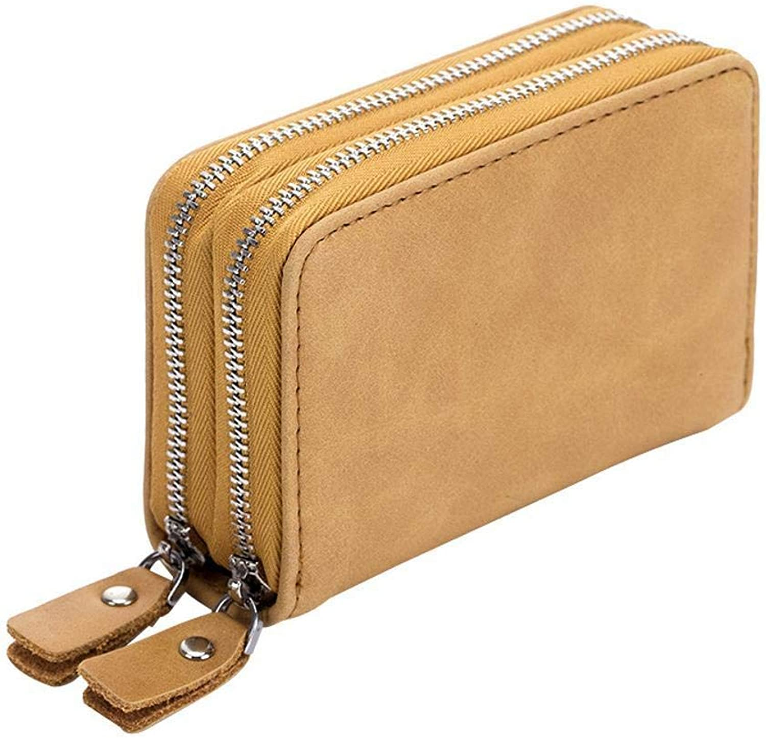 Girls Purse Women's Wallet MultiFunction DoubleDeck Card Bag Zipper Cross Section Key Bag Large Capacity Wallet 11  7.5  3.7cm (color   F)
