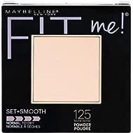 Maybelline New York Fit Me Set + Smooth Powder Makeup, Nude Beige, 0.3 oz.
