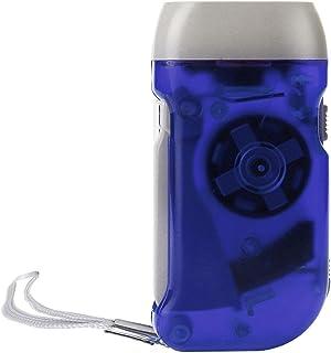 Linterna LED EUzeo 240LM 2LED/3-LED ABS Antorcha manual Herramienta manual de acampada Generador sin batería de mano Flash (Azul)